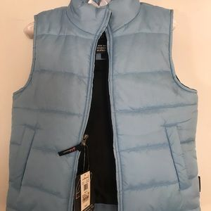 Blue kids vest new / tags great for over sweaters